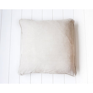 Linen feather insert cushion