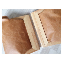 Load image into Gallery viewer, Timber and leather clutch