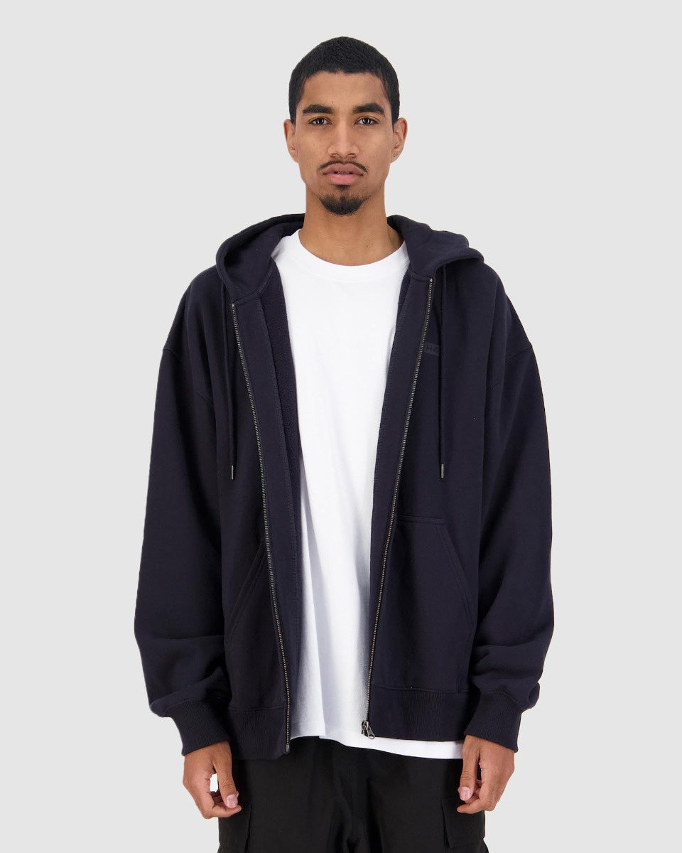 MENS PREMIERE ZIP THRU HOOD - NAVY
