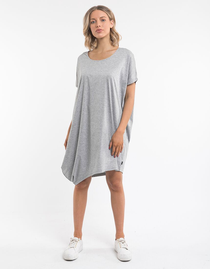 DISTORT DRESS GREY