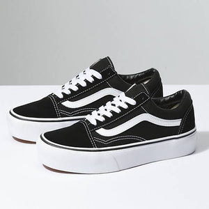 OLD SKOOL PLATFORMS BLACK/WHITE