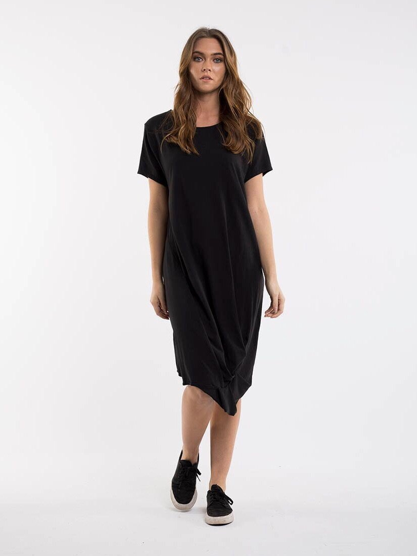REPEAT DRESS BLACK