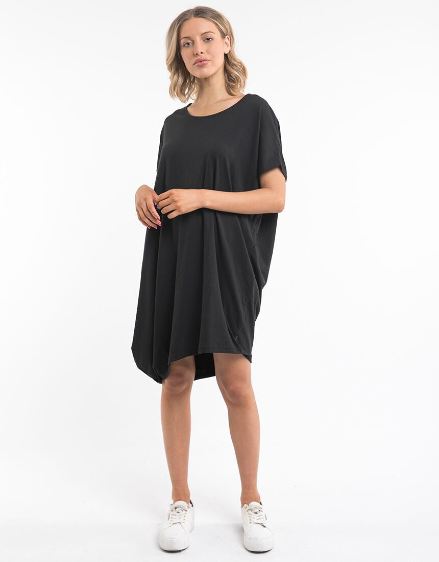 DISTORT DRESS BLACK