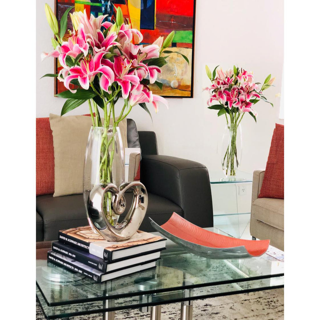 Pink & White Oriental Charming Lilies - Ambience Flowers