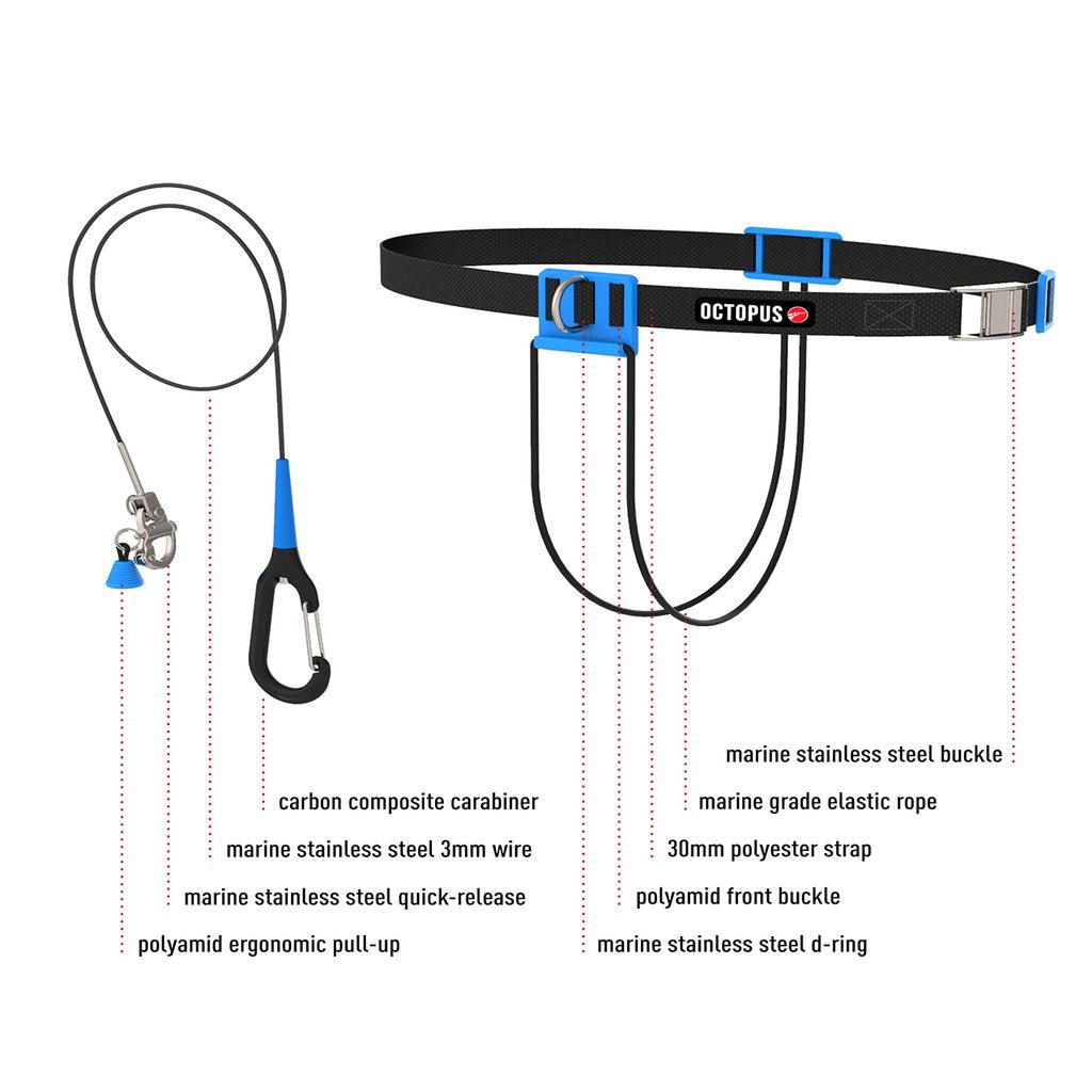 Octopus Freediving CNF lanyard White