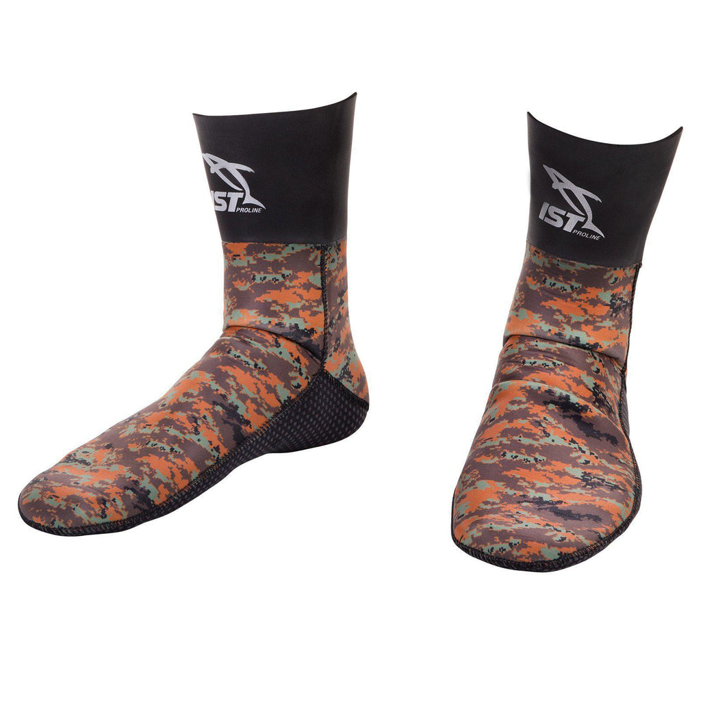 Ist Dolphin 7MM NYLONE CAMOUFLAGE SOCKS | Dving Sports Canada