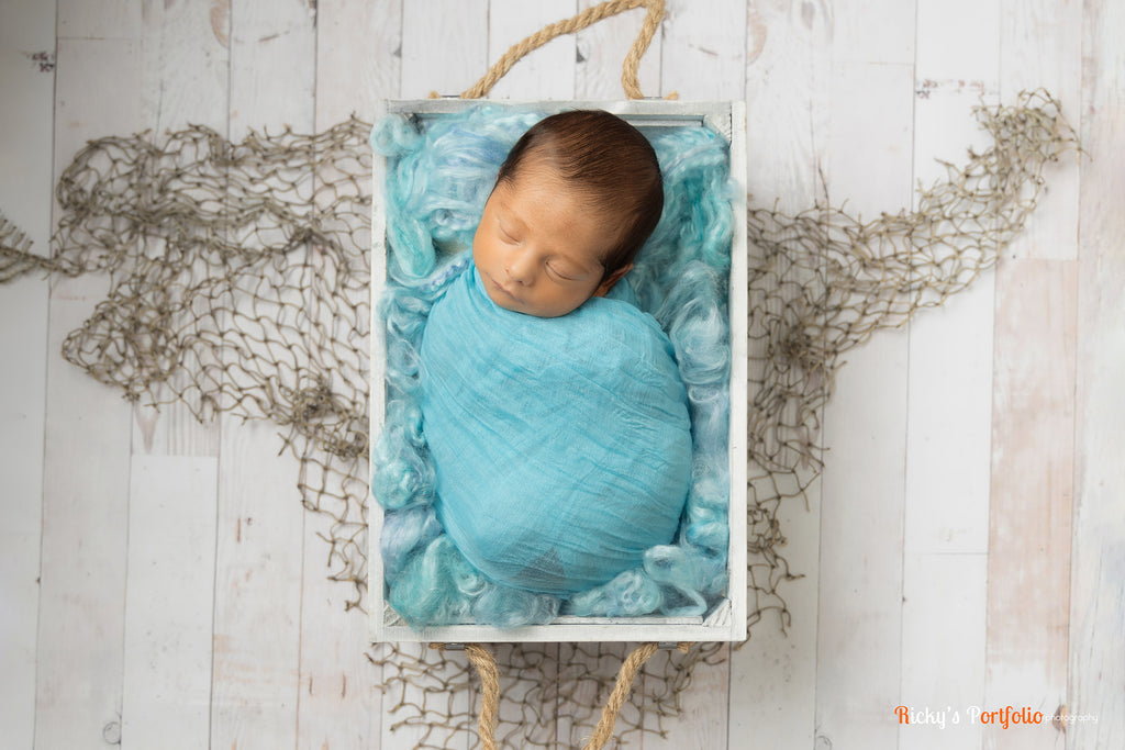 Waterfall Blue Newborn Fluff Cloud Basket Filler Nest Stuffer