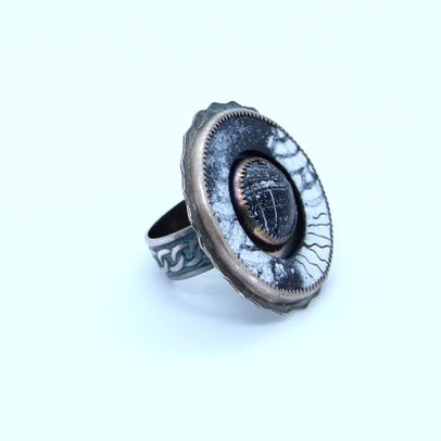 Acid Etched Black Ring