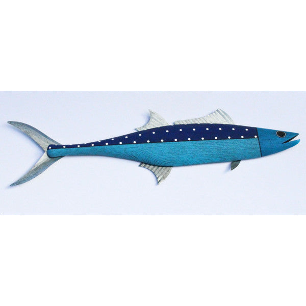 Mackerel-Split Blue with Polka Dots