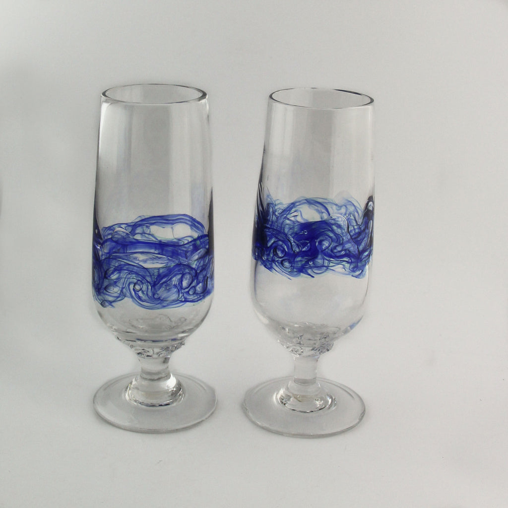 Sea Bubble stemmed summer glass