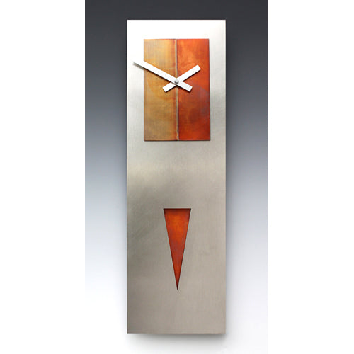 Spike Pendulum Steel/Copper Clock