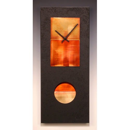 Black and Copper Pendulum Clock - 24""