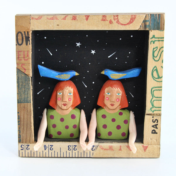 Double Bird Ladies Shadow Box