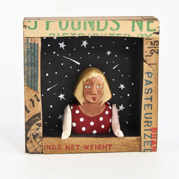 Lady with Stars Shadow Box
