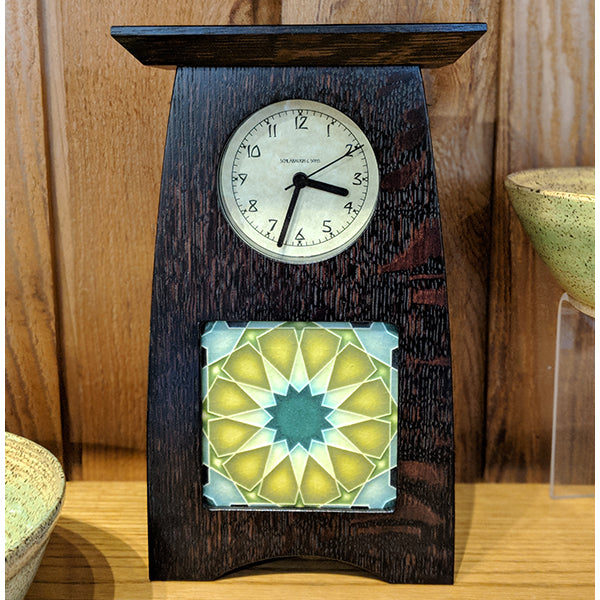 Arts and Crafts tile clock
