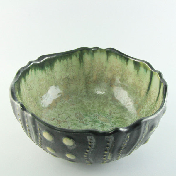 Mint & Charcoal Sea Urchin Bowl