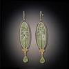 Spring Maple Earrings with Peridot Drop