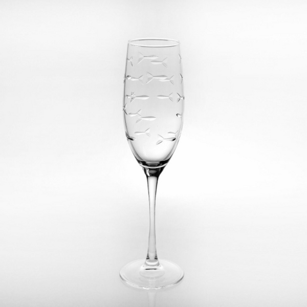 School of Fish Champagne Flute