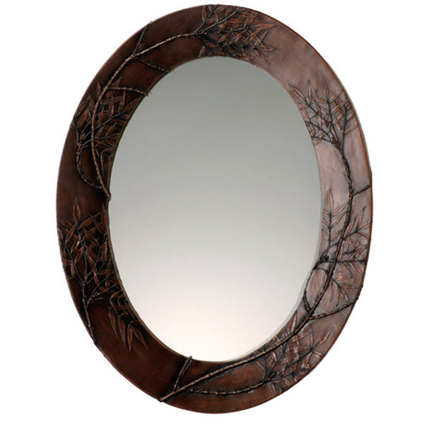 Antique Ash Oval Mirror Bronze