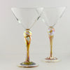 Martini pair - gold iridescent