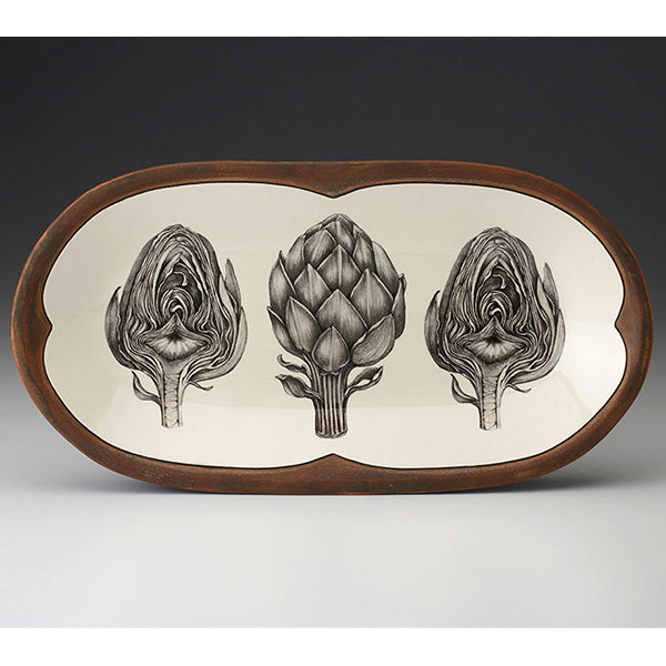 Rectangular Serving Dish - Artichoke