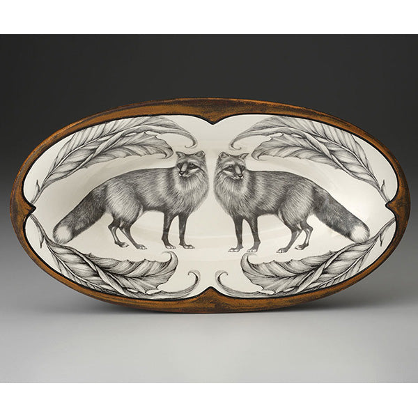 Oblong Serving Dish -  Red Fox