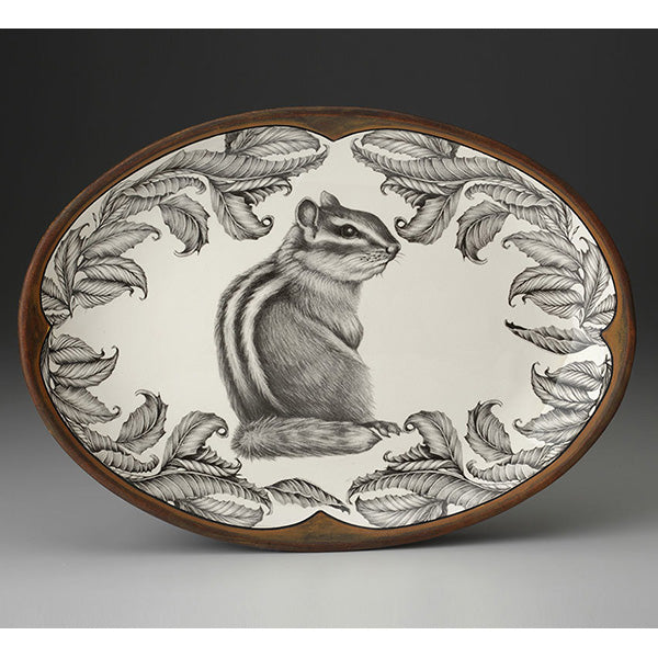 Small Oval Platter - Chipmunk