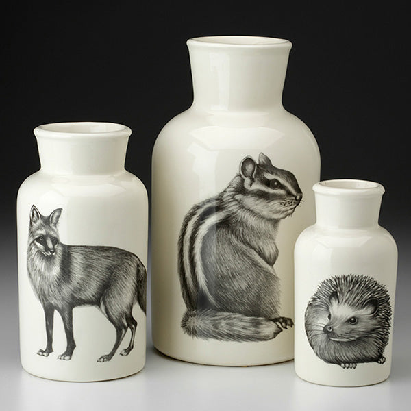 Set of 3 Woodland Jars