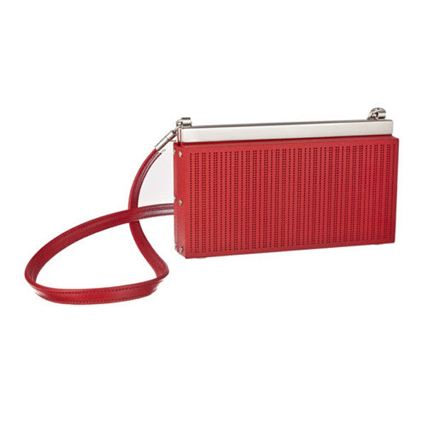 Billfold with Strap - red