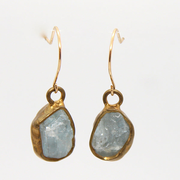 Immersion Single Aquamarine Earrings