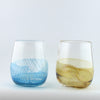 Color Splash stemless wine glass