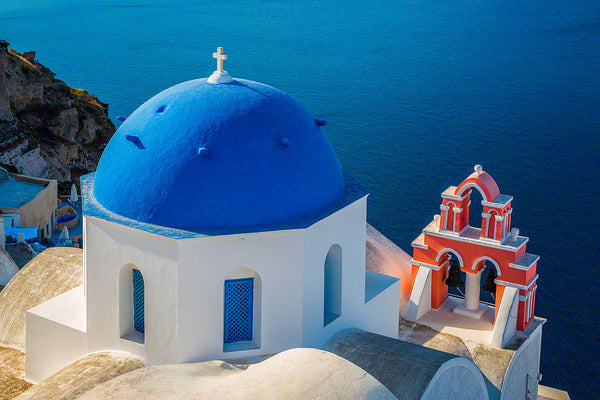 Greece - Blue, white, red