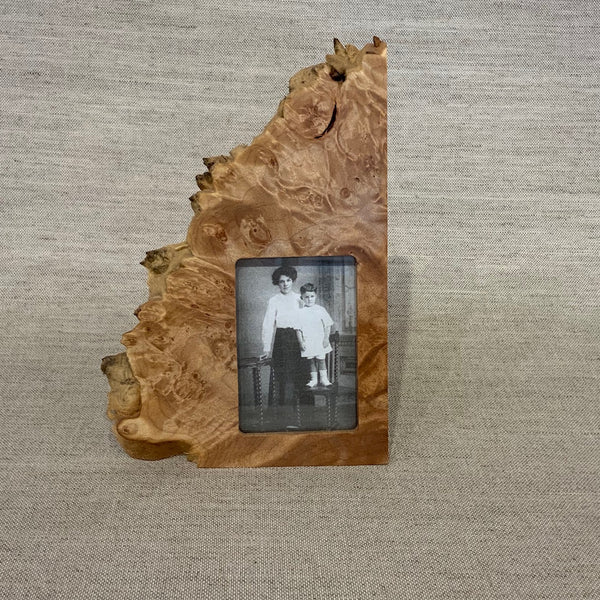 Maple Burl Vertical Frame - 2x3 opening/2 sides burl