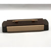 Rectangular box with curved end, wenge & curly maple