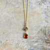 "Granite & Spessartite 17"" Necklace"