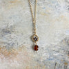 "Granite & Hessonite 17"" Necklace"