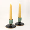 Candleholder pair - copper black