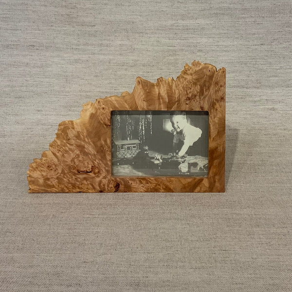 "Maple Burl Horizontal Frame - 3x5"" opening"