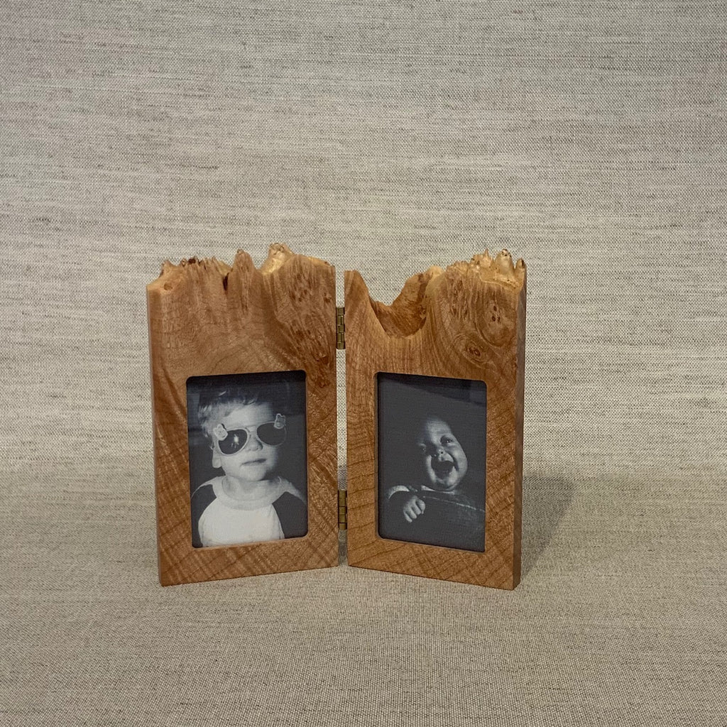 "Maple Burl Double Vertical Frame w/ 2x3"" openings"