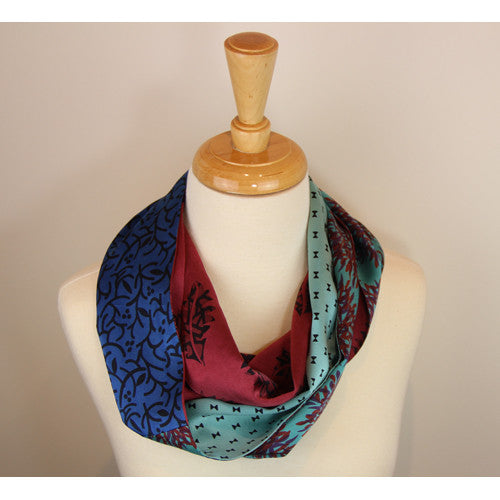 Smoke Ring Infinity Scarf Teal  Tufts