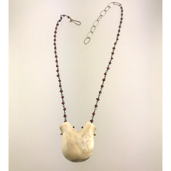 Antler and Garnet Necklace