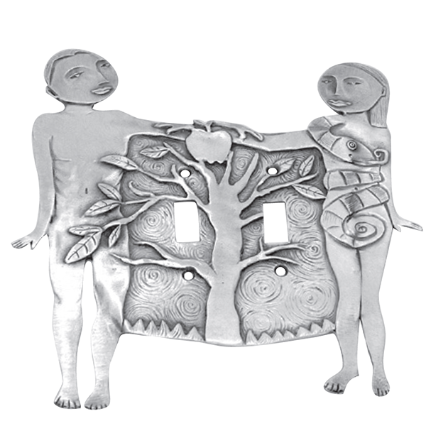 Adam & Eve double switchplate