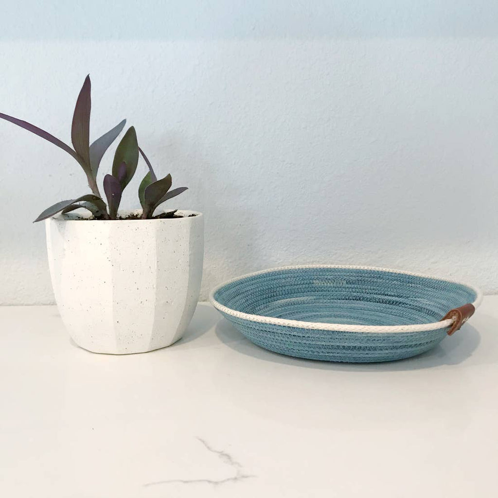 Basket Tray Blue/Seafoam  8.5""