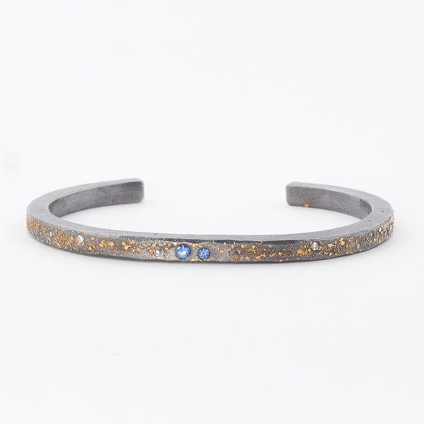 Planet & Stars Cuff with Sapphires and Diamonds