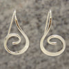 Sterling Text Hoop Earrings