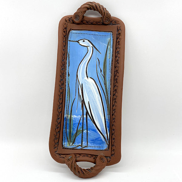 "Egret Tray by Jennifer Stas  9""x4"""