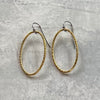 Hatch Oval Drop Vermeil Earrings