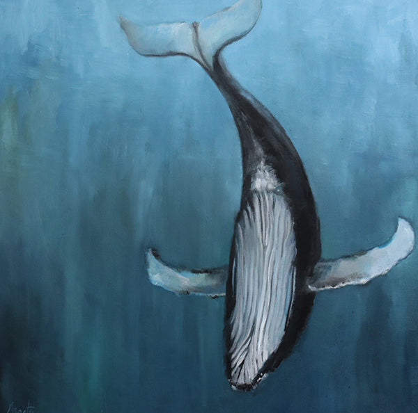 painting of humpback whale