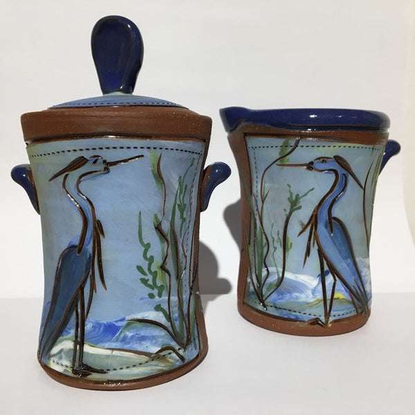 Heron sugar & creamer set