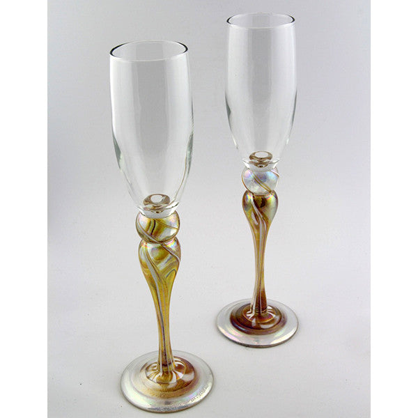 Champagne Glass Pair - gold